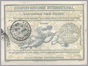United States - 6c 1909 Rome frame IRC International Reply Coupon - Sc IRC2