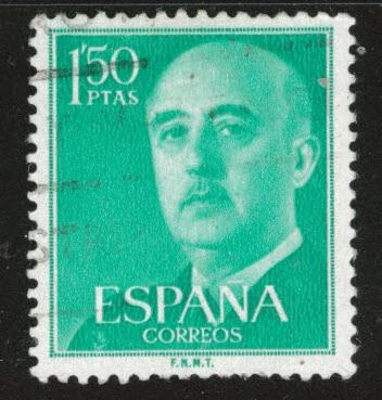 SPAIN Scott 827 Used from 1954-56 Franco FNMT imprint set