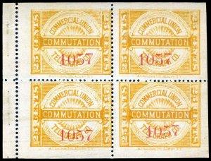 U.S. TELEGRAPH 8T1(var)  Mint (ID # 83097)