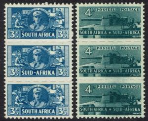 SOUTH AFRICA 1942 WAR BANTAM 3D AND 4D MNH **