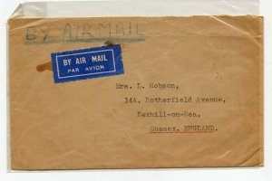 Federation of Malaya 1959 Letter/Cover Fine Used, Sent To Sussex NW-16667