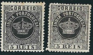 Portuguese India 56, 56a MH/Used F/VF 1877 SCV $8.50