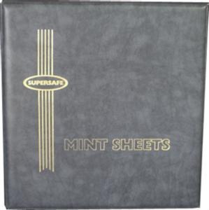 Supersafe Deluxe Mint Sheet File Album 100 Sheet Capacity GRAY (SSMSF100LTGRAY)