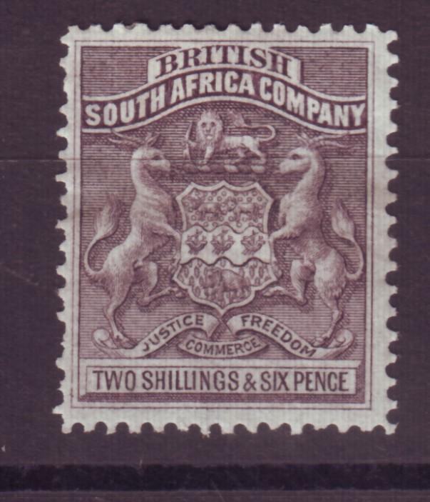 J17044 JLstamps 1890-4 rhodesia mh #11 coat of arms