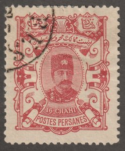 Persian stamp, Scott#95, used, hinged, 16ch, Nasser-eddin Shah Qajar, #ed-282