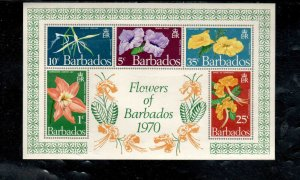 BARBADOS #352a  1970  FLOWERS     MINT VF LH  O.G  S/S