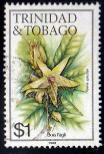 Trinidad and Tobago #402j Ryania Speciosa Flower, used. PM