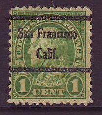 San Francisco CA, 632-45 Bureau Precancel, 1¢ Franklin