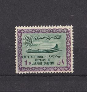 SAUDI ARABIA 1965  SINGLE STAMP AIR CRAFT   MNH