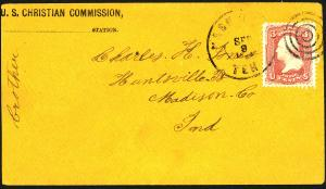 U.S. #65 Used On Cover XF