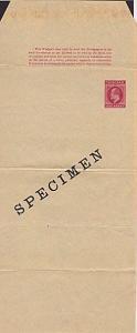 TRINIDAD EVII 1d newspaper wrapper optd SPECIMEN............................5212