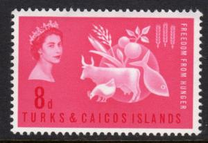 Turks & Caicos 1963 Sc#138 Freedom from Hunger/Fauna Set (1) MNH