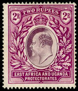EAST AFRICA and UGANDA SG27, 2r dull & brt purple, LH MINT. Cat £42.