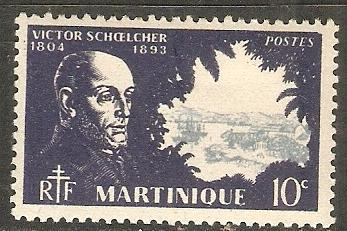 1945 Martinique Scott 198 Schoechler and town  MNH