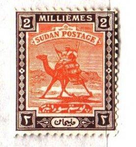 Sudan. 1921. 30v from the series. Postman, camel. MLH.