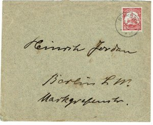 German East Africa 1912 Bukoba cancel on cover to Germany