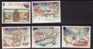 Isle of Man-SC#803-7-set-unused-NH-Christmas-1998-