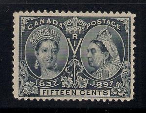 Canada #58 Steel Blue - 15 Cents - Unused - Cat:$275.00