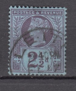 J27515 1887-92 great britain used #114 queen