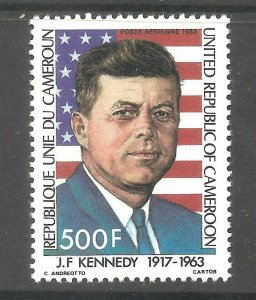 Cameroon (1983 ) - Scott # C302, President John F. Kennedy