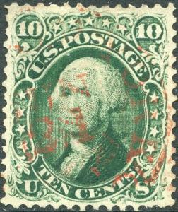 #68 XF USED GEM WITH RED DATE CANCEL BN4793