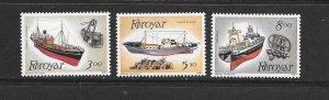 SHIPS - FAROE ISLANDS #158-60  FISHING TRAWLERS MNH