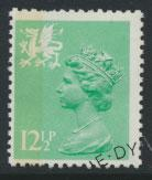 GB Wales  SG W37 SC# WMMH19 Used Machin 12½p see details