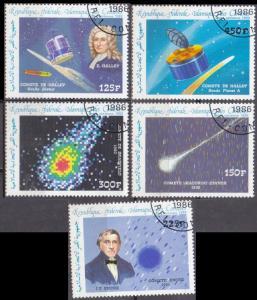 1986 Comores Islands 772-76 used Halley's Comet 7,00 €