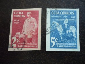 Stamps - Cuba - Scott# 359-360 - Used Imperf Set of 2 Stamps