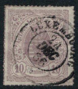Luxembourg #19b  CV $4.00  Dec. 24, 1866 cancellation