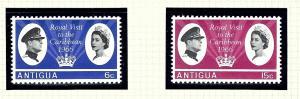 Antigua 161-62 MNH 1966 Royal Visit