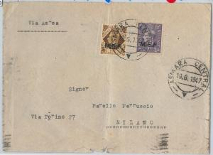 59460  - MEF British Middle East Forces - POSTAL HISTORY: COVER from ASMARA 1947