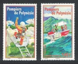 Fr. Polynesia Firefighters 2v SG#1111-1112 MI#1063-1064 CV£10+