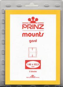 PRINZ BLACK MOUNTS 146X83.5 (5) RETAIL PRICE $6.50