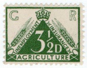 (I.B) George V Revenue : Agricultural Unemployment 3½d