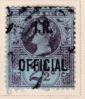 Great Britain 1891 Officials.Inland Revenue 2 1/2d violet on blue  F/VF/Used(o)
