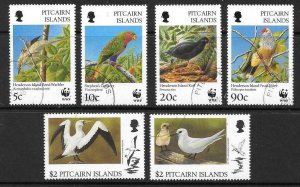 PITCAIRN ISLANDS SG504/9 1996 LOCAL BIRDS FINE USED