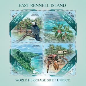 SOLOMON ISLANDS 2013 SHEET EAST RENNELL ISLAND BIRDS slm13503a