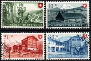 Switzerland #B174-7  F-VF Used  CV $8.00 (X2867)