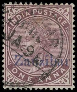 Zanzibar Scott 2D Gibbons 2D Used Stamp