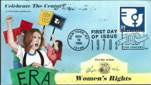 Beautiful Pugh Designed 3189j FDC Celebrate Women's Rights...Only 91 created