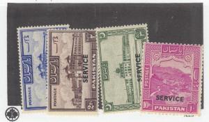 PAKISTAN # 023-023,06a,030 VF-MLH CAT VALUE $56.85
