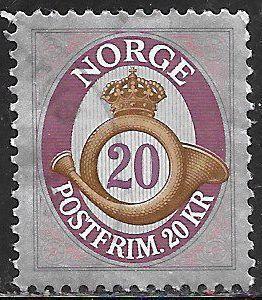 Norway 1724 Used - Posthorn