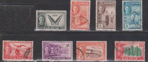 SARAWAK Selection Of Used KGVI Pictorials