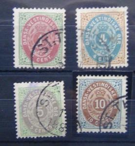 Danish West Indies 1873 values to 10c Brown & Blue Fine Used