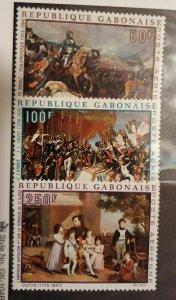 Gabon 1969 Airmail,Napoleon Bonaparte Bicentennial,Sc # C83-C85, VF MNH** (GLM)