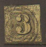 Thurn & Taxis #7 Used (thin)