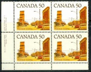 CANADA 1977-82 50c Main Street Prairie Town Plate 3 SW Blk Sc 723A MNH