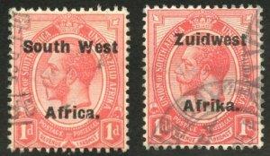 South West Africa Scott 30a-30b - UFH - Setting IV, WMK 177, Perf 14 - SCV $3.20