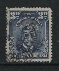 SOUTHERN RHODESIA, 5, USED, 1924-30, KING GEORGE V